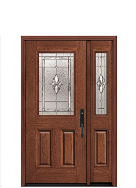 Door: BOB 620 (Oak) Sidelite: BOSB 620 (Oak)